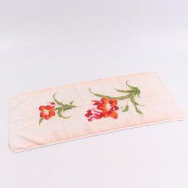 Ručník s květinami 70 x 32 cm