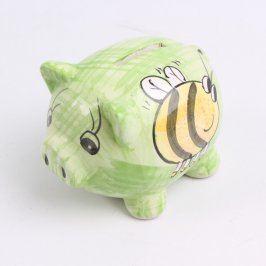 Kasička keramické prasátko s včeličkou