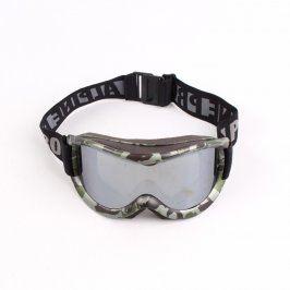 Lyžařské brýle Alpine Pro šedé maskáčové