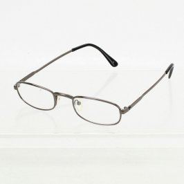 Dioptrické brýle stříbrné barvy