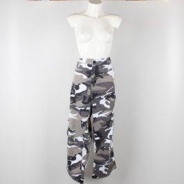 Pánské kalhoty maskáčocé bílo šedé