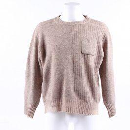 Pánský svetr s kapsičkou odstín hnědé