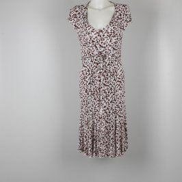 Dámské šaty bílo hnědé barvy