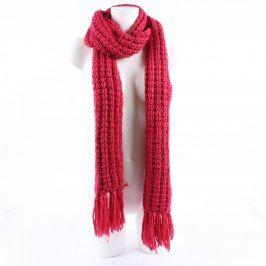 Dámská pletená šála červená