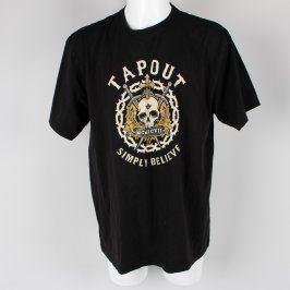 Pánské tričko Tapout černé s lebkou