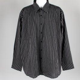 Pánská košile černá s proužkem AMJ style