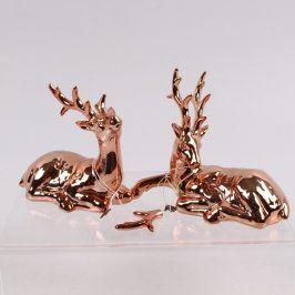 Sošky jelenů bronzová barva