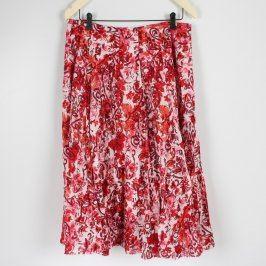 Dámská sukně Soon červená s květinami