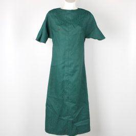 Dámské dlouhé šaty tmavě zelené