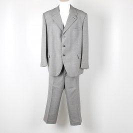 Pánský kalhotový oblek OP Prostějov šedý