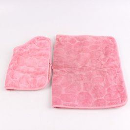 Koberečky do koupelny růžové 2 kusy