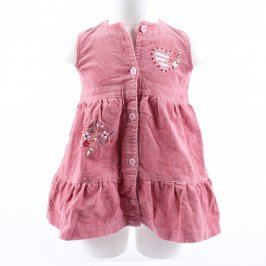 Dětské šaty Aga manžestrové růžové