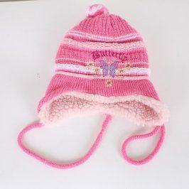 Dívčí zimní čepice Paola Style růžová