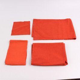 Sada bytových látek oranžové barvy
