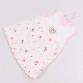 Dětské šaty bílé s kytičkami