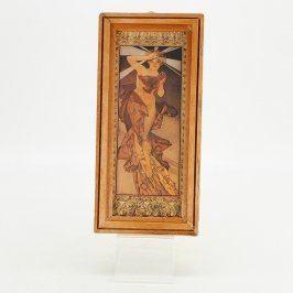 Starožitná reprodukce od Alfonse Muchy žena