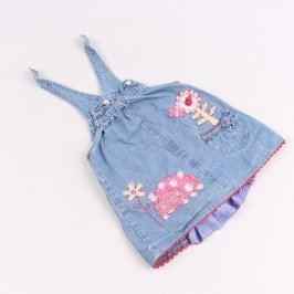 Dětské šaty džínové Mini Mode modré
