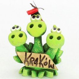 Trojhlavý drak s nápisem Kraków