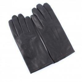Dámské rukavice koženkové prstové černé