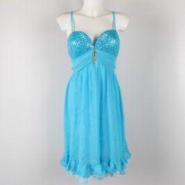 Dámské krátké šaty Ever Pretty tyrkysové