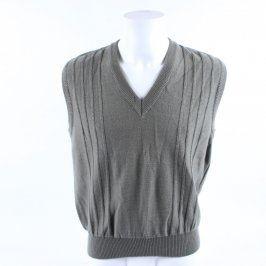 Pánský svetr Alfatex bez rukávů zelený