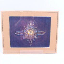 Zasklený obraz Jana Šouflová: Orientální