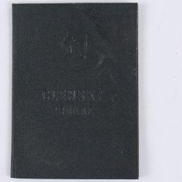 Členský průkaz z roku 1937