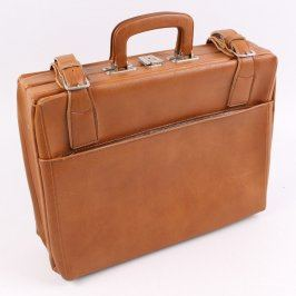 Cestovní kufr hnědý s přeskami