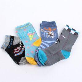 Dětské ponožky s obrázky 4 páry