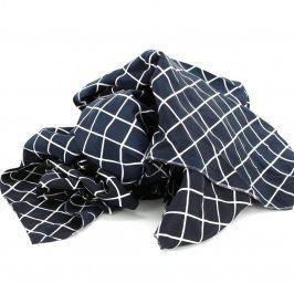 Textilní látka černá s bílými pruhy