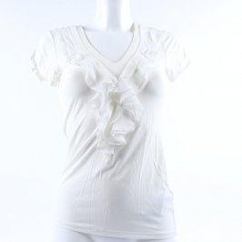 Dámské tričko Orsay bílé s volánkem