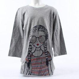 Dětské tričko F&F šedé s obrázkem holčičky
