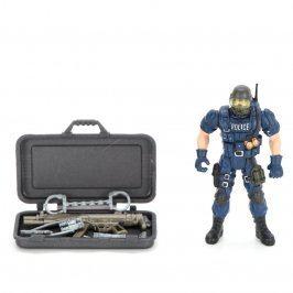 Figurka ozbrojeného policisty s výbavou
