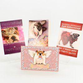 Přání narozeninové s obrázky psů