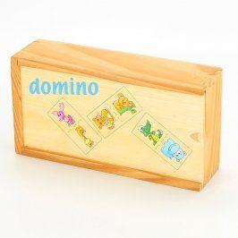 Domino dětské dřevěné s obrázky zvířátek
