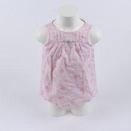 Dětské šaty Next růžové s růžemi