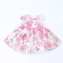 Dětské šaty George bílé s květinami