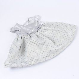 Dětské šaty F&F stříbrné s puntíky