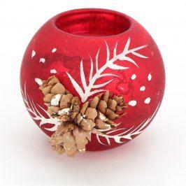 Dekorace vánoční svícen na čajovou svíčku