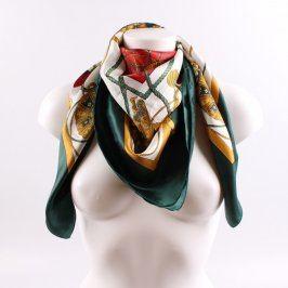 Dámský šátek multikolor s motivy