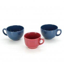 Sada 3 hrnků v barvě modré a červené