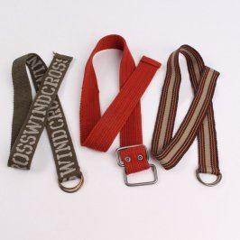 Dětské pásky červený, khaki a hnědobéžový