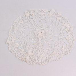 Dečka háčkovaná kulatá bílá 26 cm