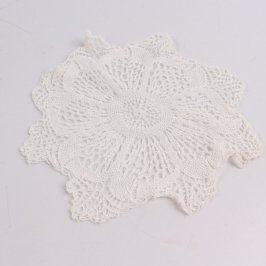 Dečka háčkovaná 22 cm bílé barvy