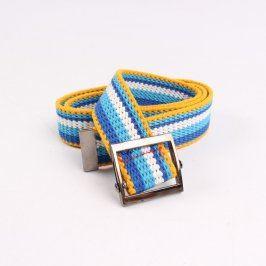 Dámský pásek modrobíložlutý