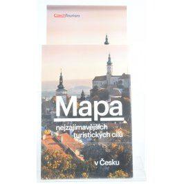 Mapa nejzajímavějších turistických cílů v Česku
