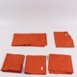 Sada prostírání 6 kusů barva oranžová
