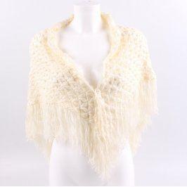 Dámský šátek pletený světle béžový