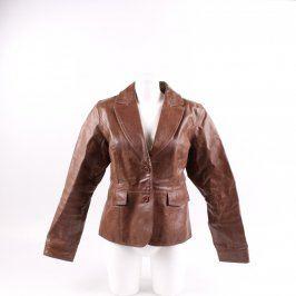 Dámská koženková bunda odstín hnědé