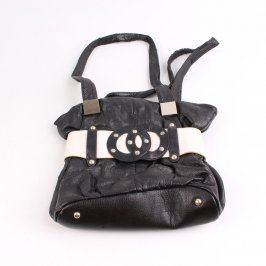 Dětská kabelka kožená černobílá